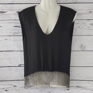 Zara Black Chain Crop Top
